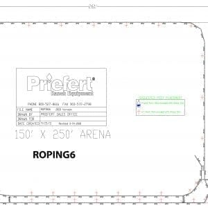 Priefert ROPING6 2018 Version - Arena Model