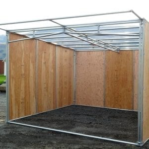 KRE 12x12 Open Front Plywood Shelter