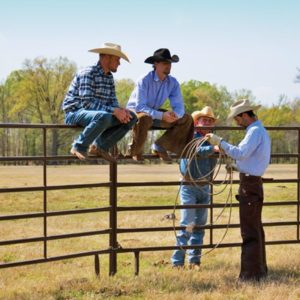 Cowboys sitting On Utility Panels